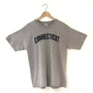 Connecticut Gray Short Sleeves Tee